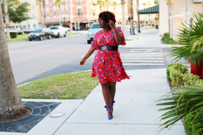 Orlando Fashion Blogger Fashionable Floral Dress